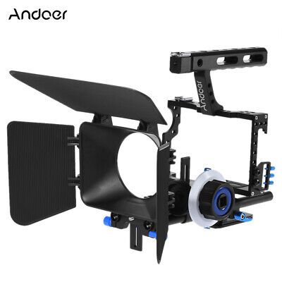 £69.73 • Buy DSLR Camera Camcorder Rig Video Cage Kit Matte Box Follow  For Canon Q5M4