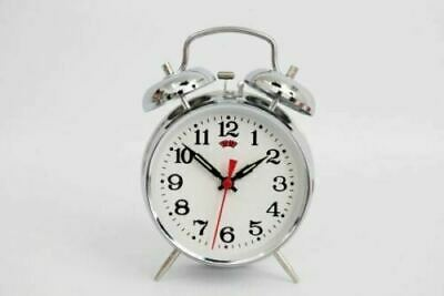 £8.99 • Buy 16cm Antique Style Wind Up Alarm Table Clock