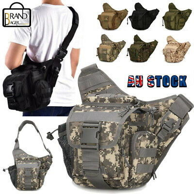 AU27.99 • Buy Men Outdoor Tactical Shoulder Bag Sling Chest Pack Military Molle Backpack Pouch