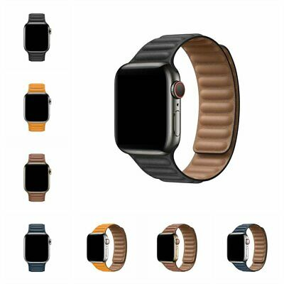 AU29.89 • Buy Leather Magnetic Force Strap IWatch Band For Apple Watch Series 6/5/4/3/2 1 SE