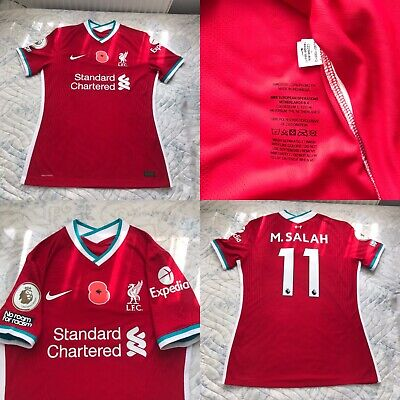 £300 • Buy Liverpool Nike Player Issue Match Issue Football Shirt Size L , M.SALAH 11 Poppy