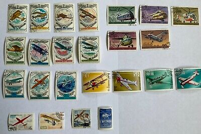 £1.95 • Buy Lot Of 24 Stamps CCCP Soviet Union Russia Aircraft Planes 1970's & 1980's