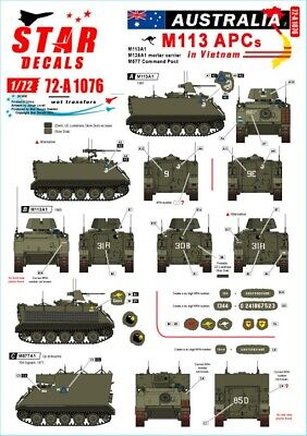 $6.50 • Buy Star Decals 1/72 AUSTRALIA IN VIETNAM Part 2 M113 Armored Personnel Carriers