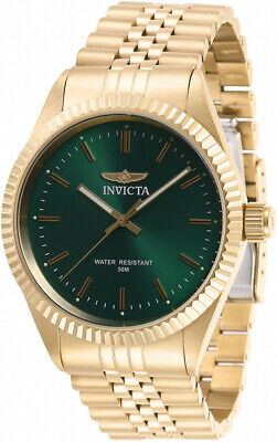 £43.10 • Buy Invicta Men's Specialty Quartz Green Dial Gold Tone Stainless Steel Watch 29385