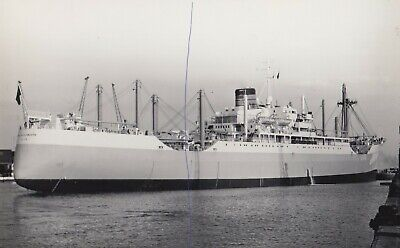 £0.75 • Buy Ship Photo B&w Cargo Vessel 'port Of New Plymouth' Shipping Photograph Picture.