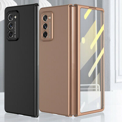 AU22.98 • Buy For Samsung Galaxy Z Fold 2 5G Case Front Glass Screen Protector Matte PC Cover