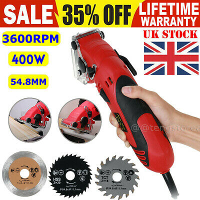 £33.80 • Buy Mini Circular Saw Strong Tool For W/Wood,Tile & Metal Blades Guide 54.8MM