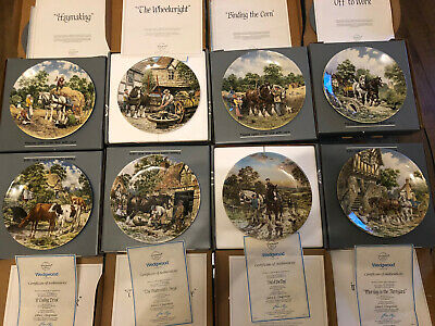£50 • Buy Wedgewood Plates - Full 'Life On The Farm' Collection - All 8 Plates, Together