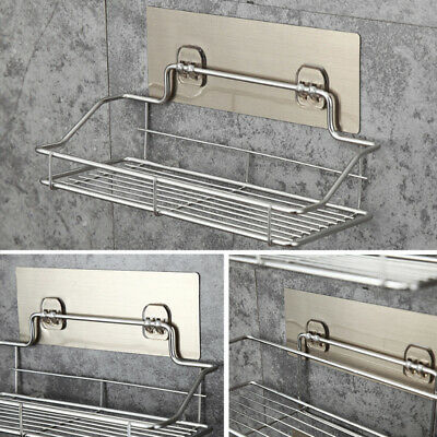 £9.88 • Buy Non Rust Stainless Steel Bathroom Shower Shelf Storage Suction Basket Caddy Tidy
