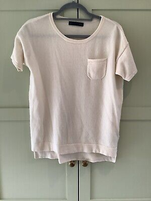 £20 • Buy M&S Collection Pure Cashmere Ivory Short Sleeve Jumper Size 10