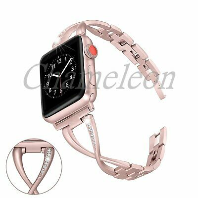 AU19.89 • Buy Stainless Steel Women Watch Band Strap For Apple Watch 40mm/44mm Series6 5 4 3 2