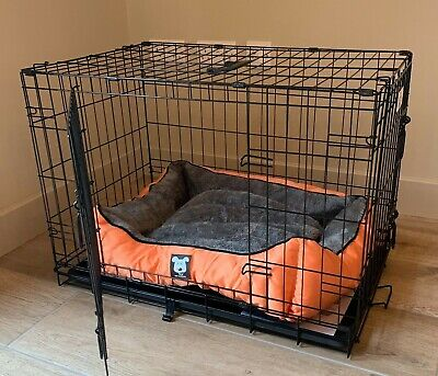 £55.95 • Buy Folding Metal Dog Cage By Mr Barker Puppy Training Crates 5 Sizes 24-42 Inch
