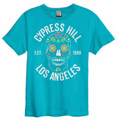 £18.99 • Buy Cypress Hill 'Floral Skull' (Teal) T-Shirt  NEW & OFFICIAL!
