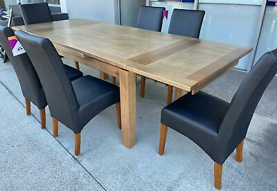 AU2399 • Buy Connor Tassie Oak 9 Piece Dining Set Extending Dining Table & 8 Dining Chairs