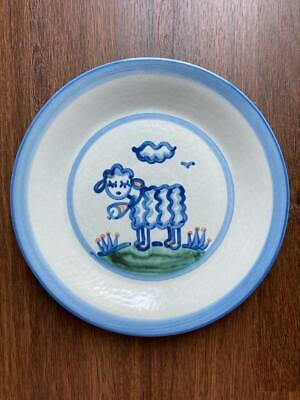 """$19 • Buy M A Hadley Pottery, 11"""" DINNER PLATE Lamb"""
