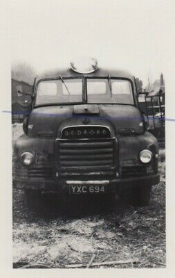 £0.35 • Buy Bedford Flatbed On An Old B&w Photo Of A Lorry Photograph Truck Picture Yxc694.