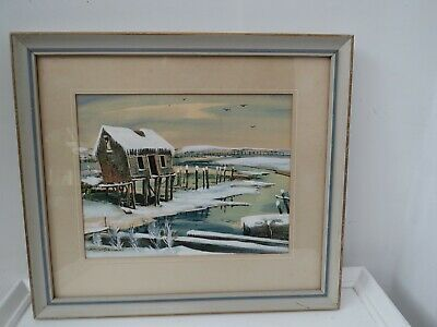 $200 • Buy Painting Of Old Oyster Shack Wellfleet, Ma  Cape Cod By Robert Brooks