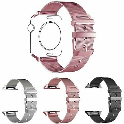 AU17.89 • Buy Stainless Steel Milanese Loop Band IWatch Strap Band For Apple Watch 38/42 40/44