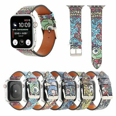 AU16.89 • Buy Cute Print Leather Watch Band Strap For Apple Watch Series 6 5 4 38 42 44 40mm