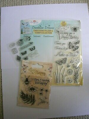 £3 • Buy 3 Clear Rubber Stamp Sets 'butterflies & Bees' New