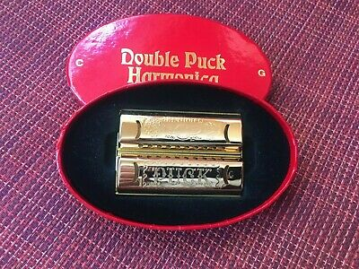 $15 • Buy Hohner Double Side Puck Harmonica In Box Made In Germany Key Of C-g M55333