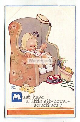 $2.75 • Buy Mabel Lucie Attwell Postcard No. 812 -  Must Have A Little Sit-down Sometimes