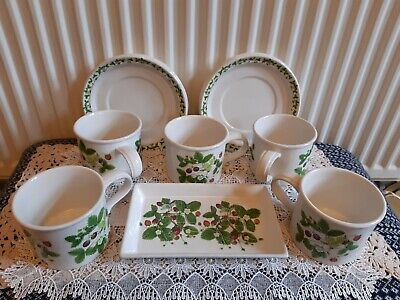 £50 • Buy Lot Of Portmeirion Cups And Saucers  Summer Strawberries