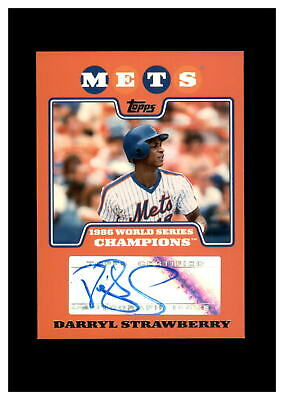 $ CDN12.61 • Buy 2008 Topps New York Mets 1986 Champs D Strawberry Auto NM-MT OR BETTER *GMCARDS*