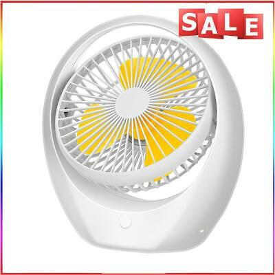AU33.06 • Buy #QZO Portable Small USB Fan 180 Rotation Desk Cooler For Home Office (Yellow)