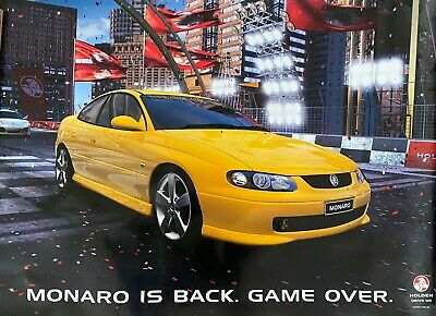 AU49 • Buy Monaro Is Back – Game Over Poster (Dec 2001)