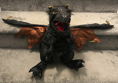 £21.72 • Buy Folkmanis Black Winged Dragon Puppet 24  Hand Puppet