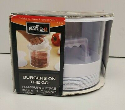 $19.66 • Buy Mr Bar B Q Burgers On The Go Burger Press And Storage Container New In Box