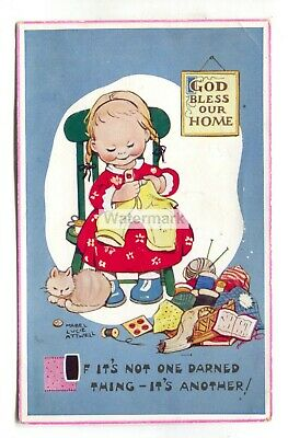 $2.75 • Buy Mabel Lucie Attwell Postcard No. 5643 -  If It's Not One Darned Thing...