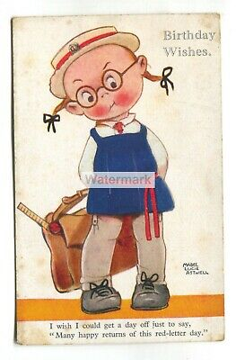 $2.75 • Buy Mabel Lucie Attwell Postcard -  I Wish I Could Get A Day Off  - C1920's