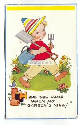 $2.75 • Buy Mabel Lucie Attwell Postcard No. 5649 -  Hope You Come When My Garden's Nice!
