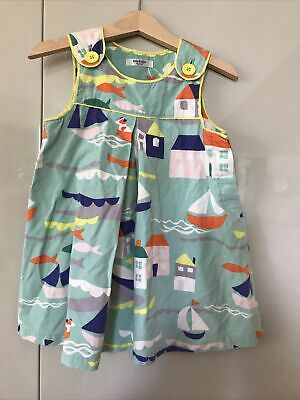 £4.50 • Buy Boden Baby Girl 18-24 Months Dress With Yellow Frilly Knickers Boat Print