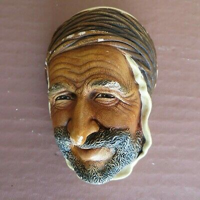 £3 • Buy Vintage Bossons Persian Chalkware Sculpture Chalk Head Wall Plaque Decor Mask