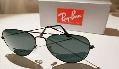 £57 • Buy Ray-Ban Aviator Classic Sunglasses -  58mm Black Frame With Grey Lenses