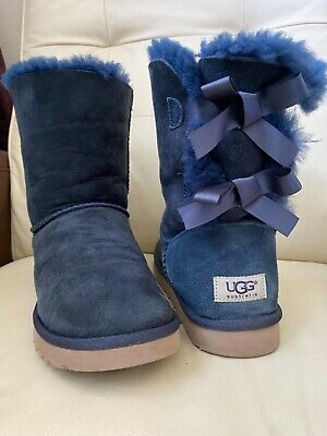 £69.99 • Buy UGG Short Bailey Bows Navy Blue Boots , UK Size 7.5, EUR 40