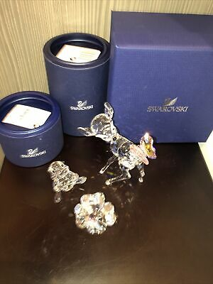 £535 • Buy Swarovski Bambi And Thumper Set With Plaque New In Boxes