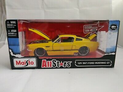 $45 • Buy 2011 Maisto All Stars Scale 1:24 1967 Ford Mustang Gt Yellow & Black Sealed