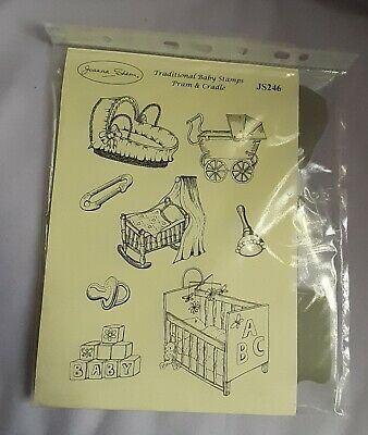 £7 • Buy Joanna Sheen Stamp Plate, Traditional Baby Stamps, Pram And Cradle