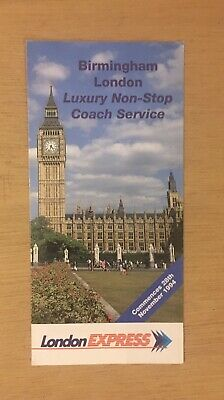 £1.99 • Buy National Express (london Express) Coach Timetable Dated November 1994