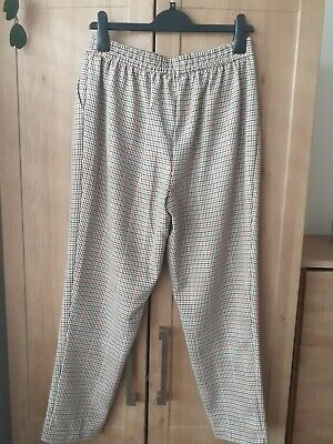 £4 • Buy Ladies New Look Trousers Size 12 Black & White Dog Tooth Check