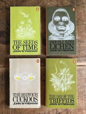 £15 • Buy John Wyndham X 4 Inc DAY OF THE TRIFFIDS & TROUBLE WITH LICHEN 1970's Penguins
