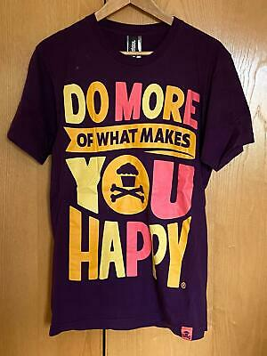 £7.99 • Buy Johnny Cupcakes - Limited Edition Do More Of What Makes You Happy Print T-Shirt