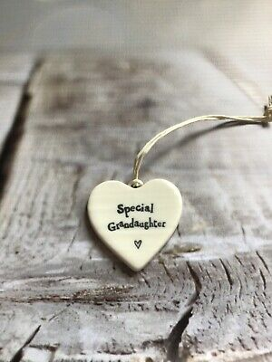 £2.84 • Buy East Of India SPECIAL GRANDAUGHTER  Porcelain Heart - Gift Idea