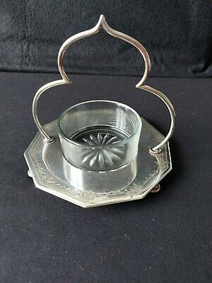 £18 • Buy Antique Silver Plated Decagon Jam, Butter Dish By George Travis & Co - Sheffield