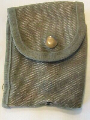 $11.99 • Buy VIETNAM WAR 1960's US MILITARY M-1956 O.D. COTTON CANVAS FIRST AID POUCH