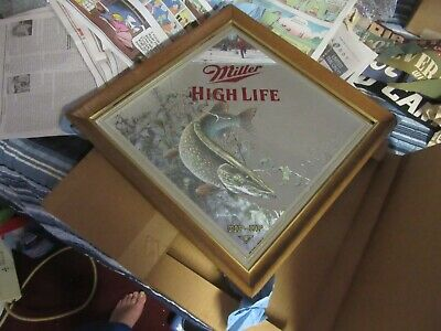 $109.99 • Buy Miller Beer Sign Mirror Wildlife Collection Wisconsin Ice Fishing Tip Up Bar Pub